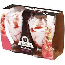 Coupes glacees Fragola U Les Saveurs, 2x180ml