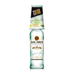 Bacardi superior 37,5° -70cl + verre on pack offert