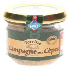 Terrine campagne Cote Table Cepes 180g
