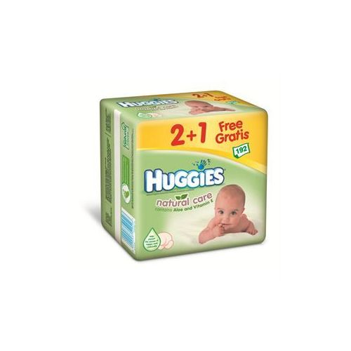 Huggies lingette pack natural care 3x64
