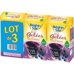 Beghin Say, Sucre special gelees, les 3 paquets de 1 kg