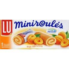 Mini roules a la pulpe d'abricot LU, 6 pieces, 150g