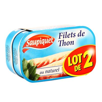 Filets de thon au naturel