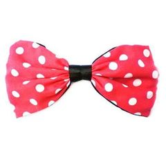 Johnny Loves Rosie Barrette géante noeud papillon Motif pois Rouge/blanc
