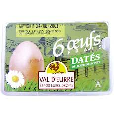 6 Gros oeufs dates VAL D'EURRE