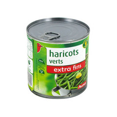 Auchan haricots verts extra fins 220g