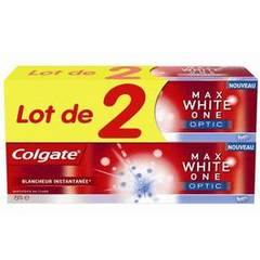 Colgate Dentifrice Max White One Optic le lot de 2 tubes de 75 ml
