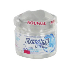 Freedent Fusion menthe douce, 40 dragees, 80g