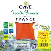 Ovive truite fumée tranche 3x2 -200g