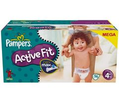 Pampers Activ Fit méga 7/18kg x96 maxi+ taille 4