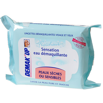 Demak'Up lingette démaquillante peau sèche ou sensible x25