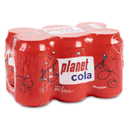 Auchan planet cola zero 6x33cl