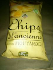 Chips à l'ancienne saveur moutarde extra fines 150g