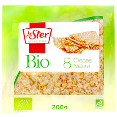 8 Crepes nature bio LE STER, 200g