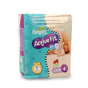 Pampers active fit paquet maxi taille 4 9-20kg x26