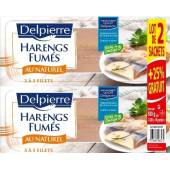 Filets de harengs fumes au naturel 2x200g