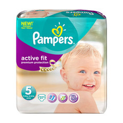 Couches Pampers Active Fit T5 Junior x37