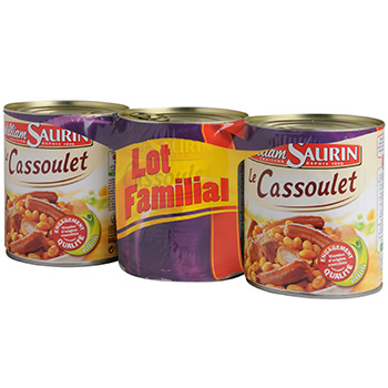 Cassoulet William Saurin 3x840g
