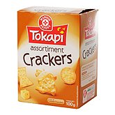 Assortiment crackers Tokapi Nature - emmental 100g