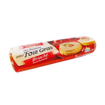 Canape rond brioche pour foie gras 250g tous les for Canape foie gras