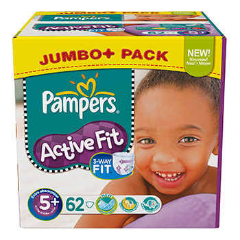Couches Pampers Active Fit BOX T5 X62