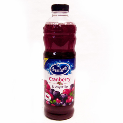 Ocean Spray cranberry et de myrtille 1L