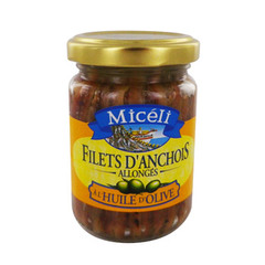 Filet d'anchois allonges a l'huile d'olive MICELI, 150g