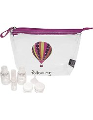 Incidence Paris Trousse de Toilette Transp plus Flacons Follow Me, 19 cm, Transparent