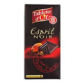 Tablette d'Or fêves de cacao Chocolat noir 100g