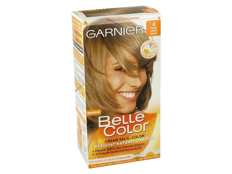 garnier belle color coloration permanente blond 04 blond cendr naturel - Belle Color Blond Cendr