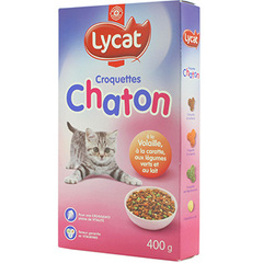 Croquettes chats Lycat Chatons 400g