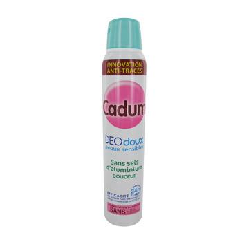 deodorant spray deodoux cadum sans sels d 39 aluminium 200ml tous les produits d odorants femme. Black Bedroom Furniture Sets. Home Design Ideas