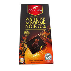 Tablette dégustation Côte d'Or Chocolat orange 100g
