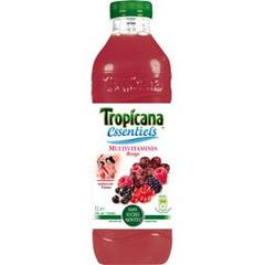 Jus de fruits rouges Multivitamines sans sucre ajoute TROPICANA Essentiels, 1l