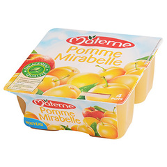 Compotes Materne Pomme mirabelle 4x100g