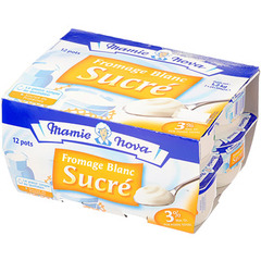 Fromage Blanc Mamie Nova Sucre 12x100g