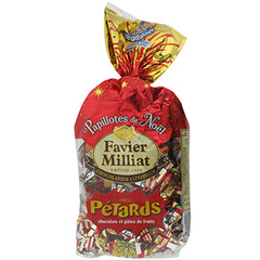 Papillotes chocolat F.Milliat Pate de fruits + petard 415g