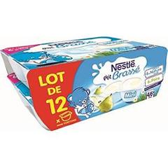NESTLE-MINI BRASSE POIRE + NATURE 2X(6X60G) - LOT DE 12-720GR
