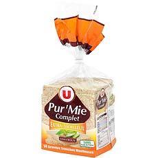 pain de mie complet sans croute en grandes tranches u 500g tous les produits pains de mie. Black Bedroom Furniture Sets. Home Design Ideas