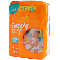 Pampers simply dry midpack change x44 taille 4