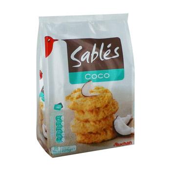 sables coco auchan 225g tous les produits biscuits. Black Bedroom Furniture Sets. Home Design Ideas