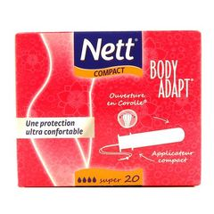 Nett tampons body adapt avec applicateur compact super x20