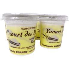 Yaourts saveur vanille FROMAGERIE EBRARD, 4x12cl