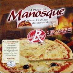 La Pizza de Manosque, Pizza 3 fromages Label Rouge, la boite de 430 g