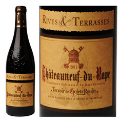 Vin rouge Chateauneuf du Pape. AOC 2011 Rives & Terrasses 75cl
