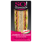 Sandwich So Gourmand ! pain au pavot-jambon-cheddar-salade SODEBO, 210g