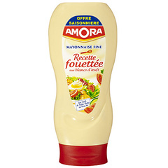 Mayonnaise fine recette fouettee AMORA, 398g