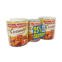 William Saurin cassoulet coeur marche 2x840g