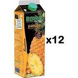 Lot de 12 bricks de Jus d'ananas Pur Jus Painapo Rotui - Brick 1L