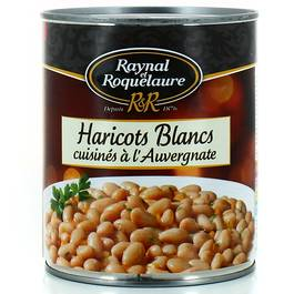 Haricots blancs cuisines a l'Auvergnate RAYNAL&ROQUELAURE, 820g